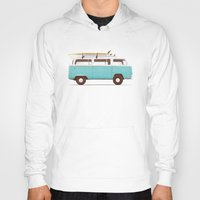 van Hoodies featuring Blue Van by Florent Bodart / Speakerine
