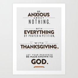 Philippians 4:6 Art Print