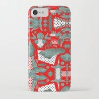 crocodile iPhone & iPod Cases featuring crocodile by BUBUBABA