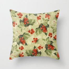 Vintage Berries Throw Pillow