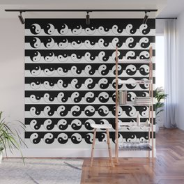 Fluidity | Yin Yang Art Pattern Black & White Wall Mural