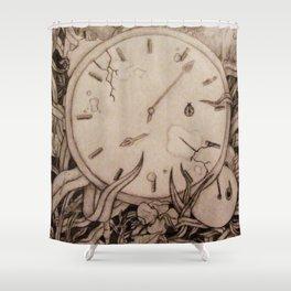 Clock's Slay Time  Shower Curtain