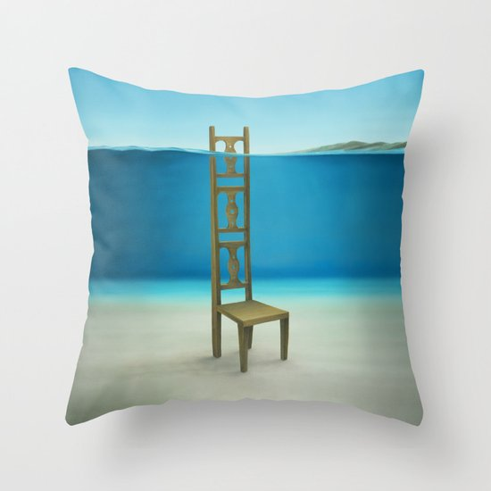Waiting Place Throw Pillow