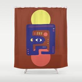 Mother Earth - Minimal Modern Mid-Century Snake Shower Curtain