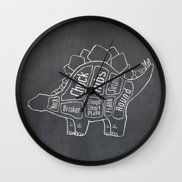 Stegosaurus Dinosaur (A.K.A Armored Lizard) Butcher Meat Diagram Wall Clock