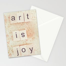 Art Is Joy Stationery Cards