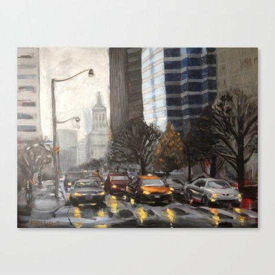 University Ave., Toronto Canvas Print