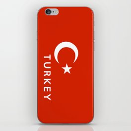 Turkey country flag name text iPhone Skin