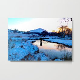 Snowy puddles Metal Print