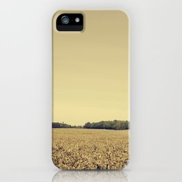 Lonely Field in Brown iPhone Case