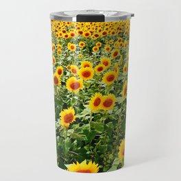 Field of Sunny Flowers Travel Mug