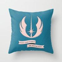 jedi Throw Pillows featuring Jedi Blueprints by Travis English