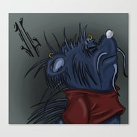 pooh Canvas Prints featuring Twisted Pooh by Jonathan Gehrke
