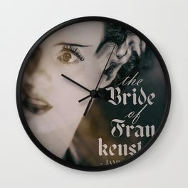 The Bride of Frankenstein, vintage movie poster, Boris Karloff cult horror Wall Clock