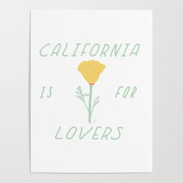 California is for Lovers Poster