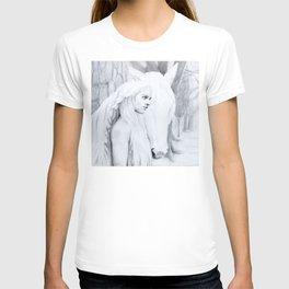 The woman, the horse, their path T-shirt