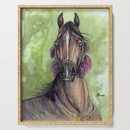 Bay Arabian Horse Serving Tray