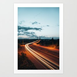 Highway Lights Art Print