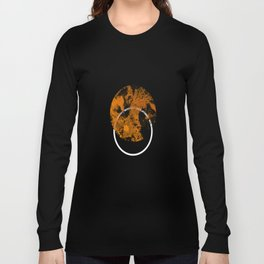 Collusion - Abstract in black, gold and white Long Sleeve T-shirt