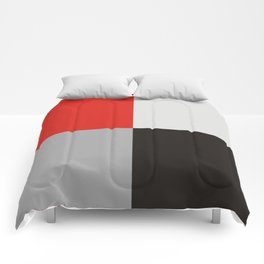 Red black gray quarters Comforters
