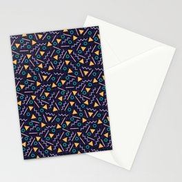 Memphis style pattern Stationery Cards