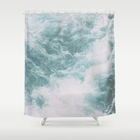 norway Shower Curtains featuring Norway - Nebula by Andrej Stern