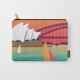 Sydney Australia Travel Poster City Illustration Carry-All Pouch