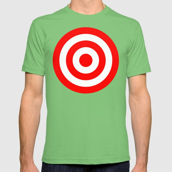 Bullseye Target Red & White Shooting Rings T-shirt
