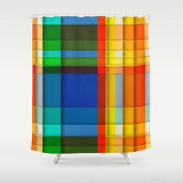 rectangle layers Shower Curtain