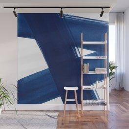 Indigo Abstract Brush Strokes | No. 4 Wall Mural