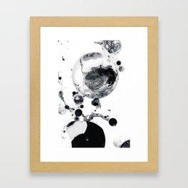 Ink in Milk Black and White liquid Nr.05 Framed Art Print