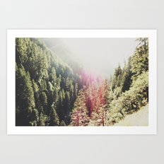 Mountain Flare Art Print
