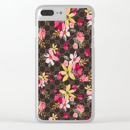 Guci Flower Clear iPhone Case