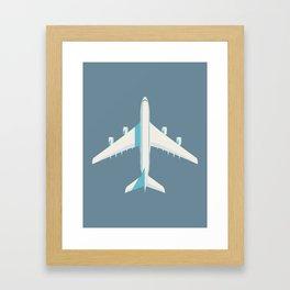 A380 Super Jumbo Jet Airliner - Slate Framed Art Print