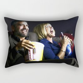 "Frances McDormand and George Clooney @ film ""Burn After Reading"" (Joel & Ethan Coen - 2008) Rectangular Pillow"