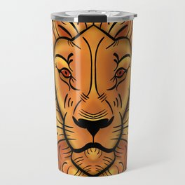 Fiery Lion Travel Mug