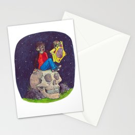 HALLOWEEN - Zombie-Boy with Skull  Stationery Cards