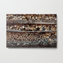 Timber Metal Print