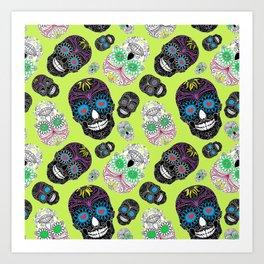 Day Of The Dead, Sugar Skulls Art Print