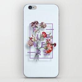 Flowers Bloom Botanicals Vintage Illustration Poster #3 iPhone Skin