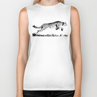 cheetah Biker Tanks featuring Cheetah by ClockworkMonster