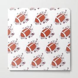 Football Pattern Metal Print