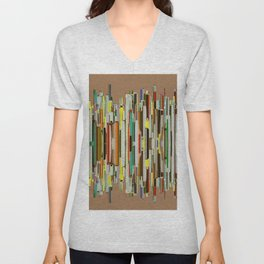 Abstract Composition 635 Unisex V-Neck