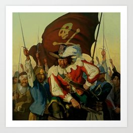 """Stand and Deliver"" Pirate Art by NC Wyeth Art Print"