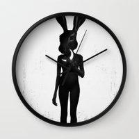 ruben Wall Clocks featuring Lepus by Ruben Ireland