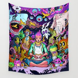 Strange Gathering Wall Tapestry