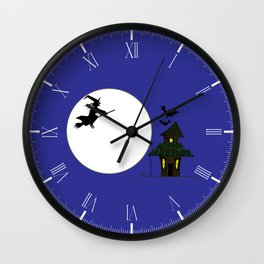 Witches Cottage Wall Clock