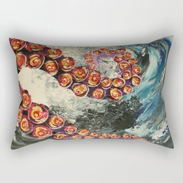 Octopus wave Rectangular Pillow