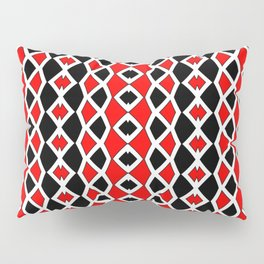 Red Black and White Pattern Pillow Sham