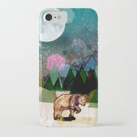 alone iPhone & iPod Cases featuring Alone by Jo Cheung Illustration